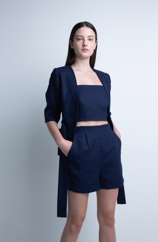 short cintura alta laila