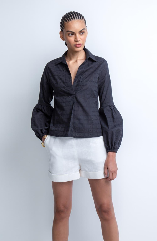 camisa polo manga bufante izabel