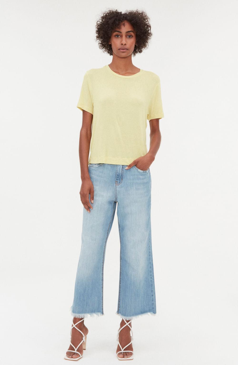 camiseta manga curta malha