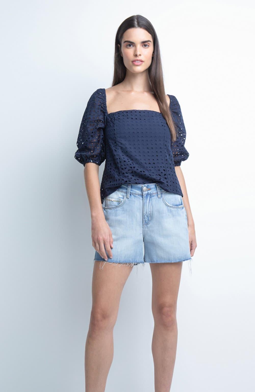 bermuda jeans curta stone
