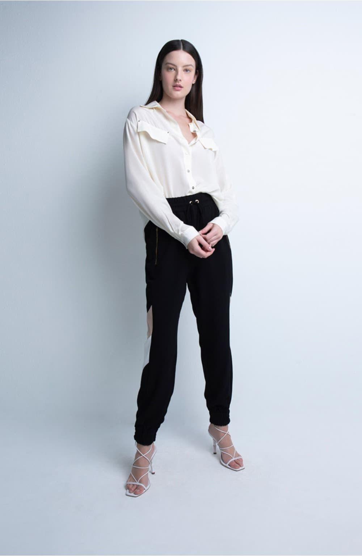 calça preta esportiva mix cores