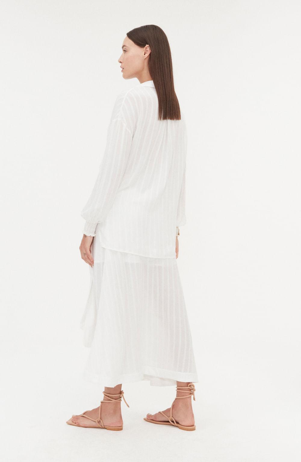 camisa branca manga longa