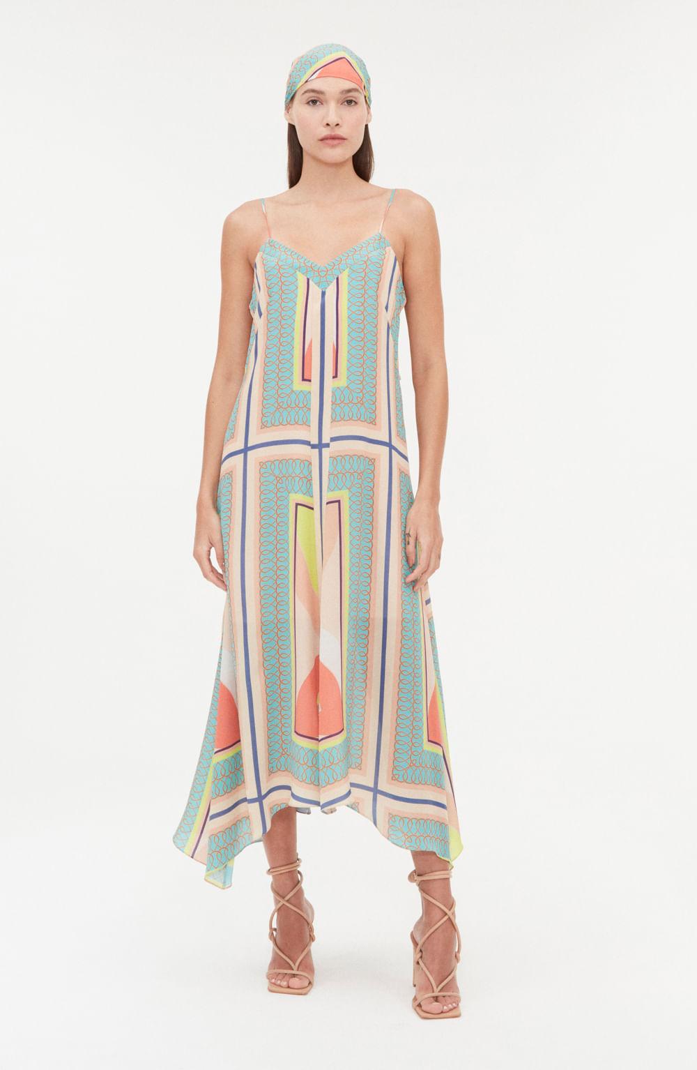 vestido de alcinha seda