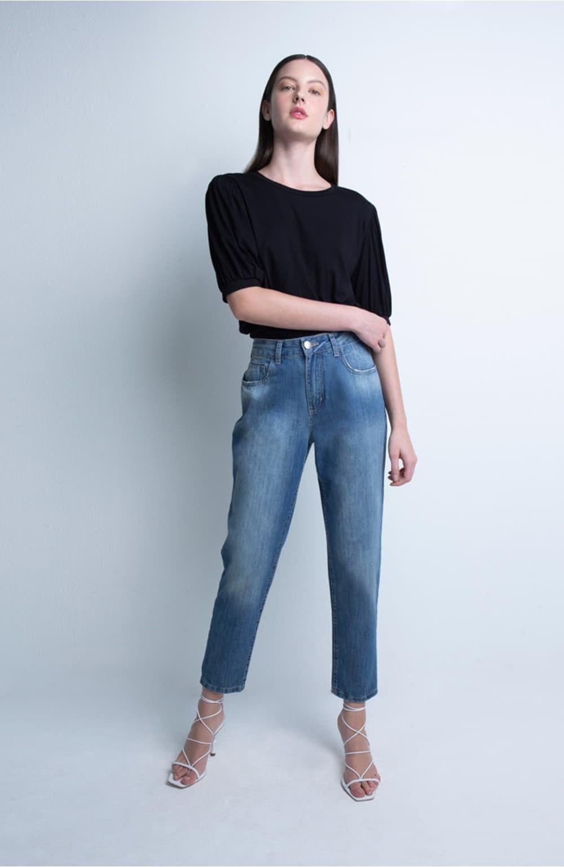 calça jeans boyfriend stone