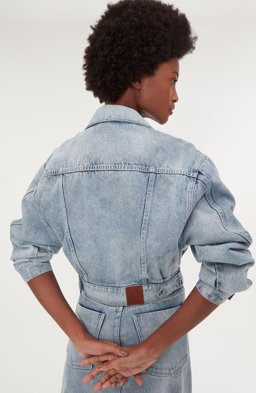 jaqueta jeans azul stone americano