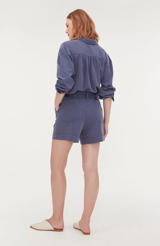 shorts faixa anoitecer azul