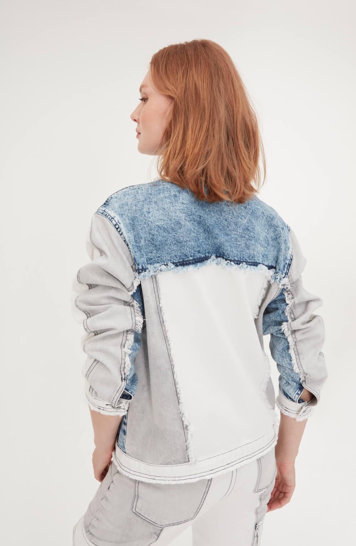 jaqueta jeans patch