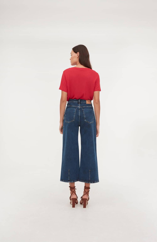 calça pantacourt basic