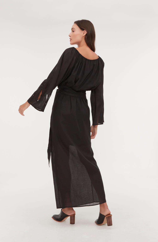 vestido midi bordado jarro
