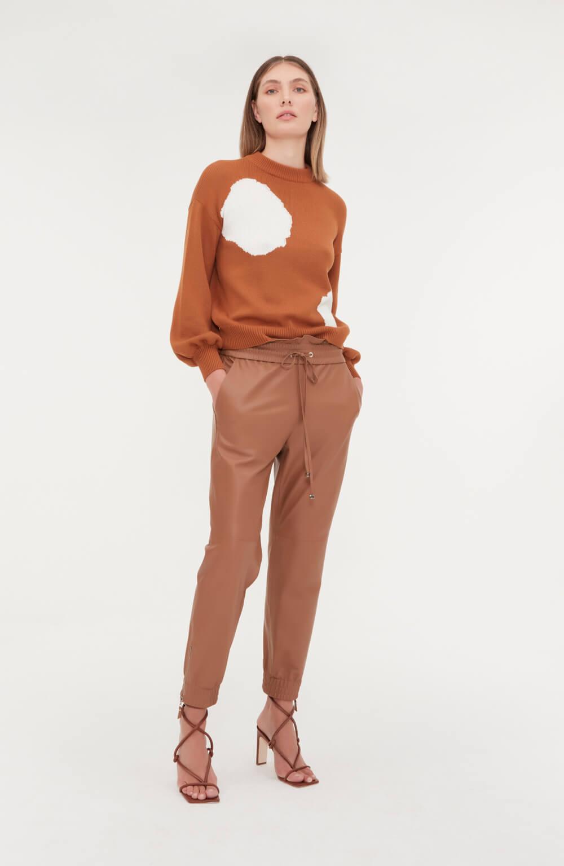 blusa manga longa círculos