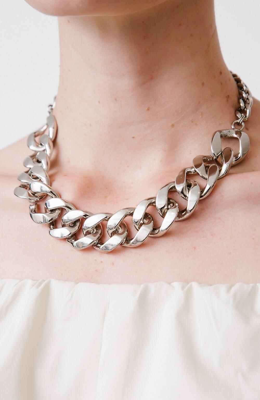 colar de corrente prata elo