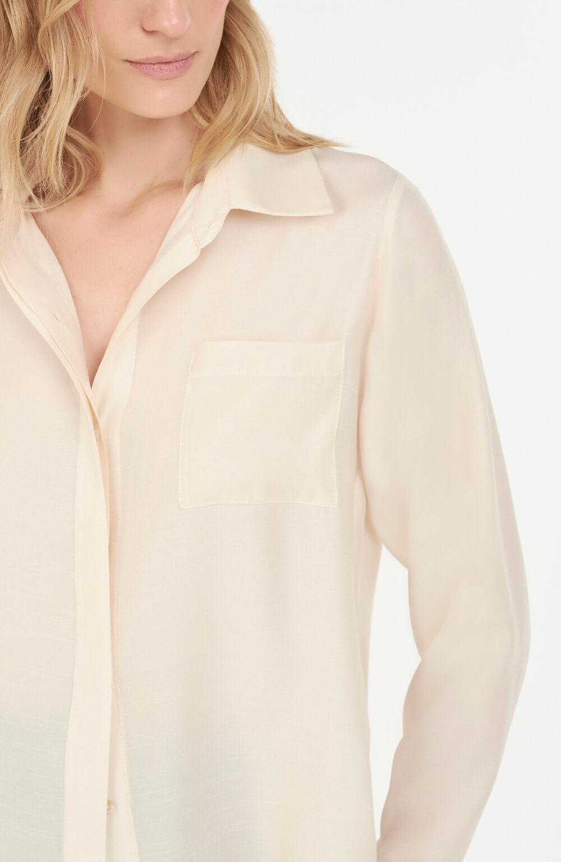 camisa com vista coberta off white