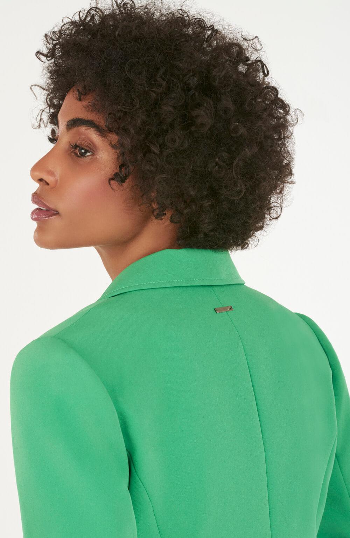 blazer básico de crepe verde