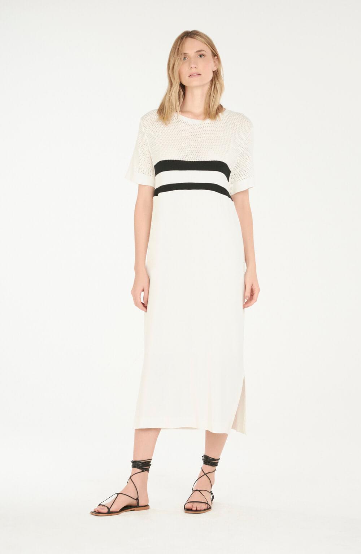 vestido de malha c/ tricot off white