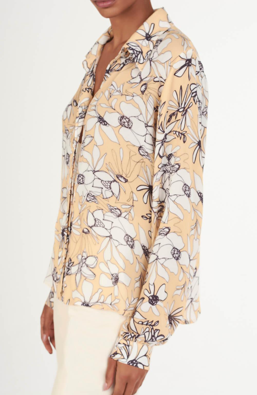 Camisa fraldada ninfeia