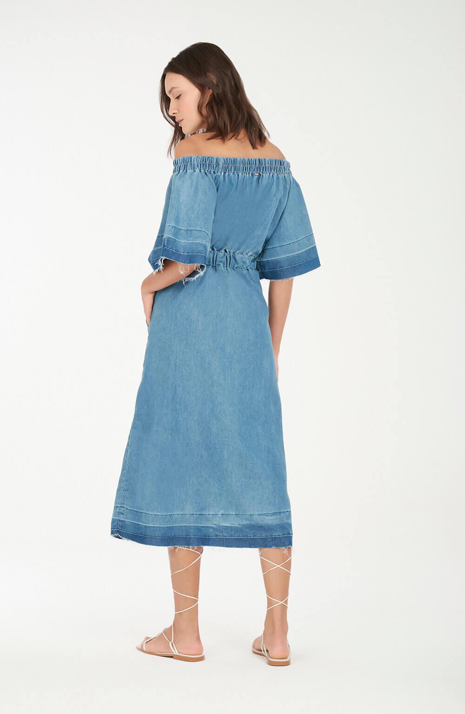 Vestido cordão azul