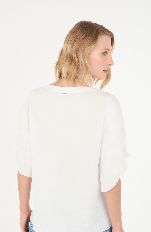 Blusa com amarração na manga off white